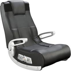 Ace Bayou Black Leather Floor Gaming Chair
