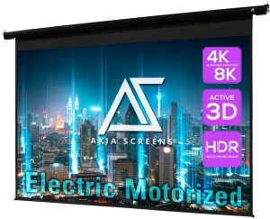 Akia-Screens-Motorized-Electric Controlled-Projector-Screen