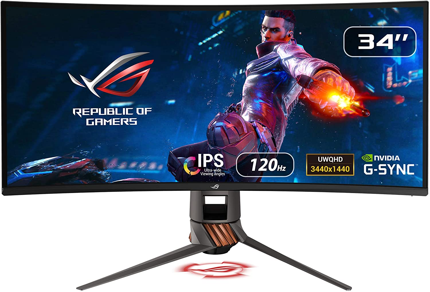 """Asus ROG Swift PG35VQ 35"""" Curved HDR Gaming Monitor"""