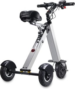 TopMate ES30 Electric Scooter Mini Tricycle | Key Switch 3 Gears | Rear Axle Longer | for Mobility Assistance and Travel