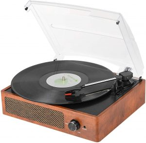 WOCKODER Record Player with Stereo Speakers
