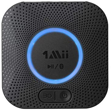 1Mii B06 Plus Bluetooth Receiver, HIFI Wireless Audio Adapter, Bluetooth 5.0 Receiver with 3D Surround aptX Low Latency for Home Music Streaming Stereo System