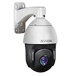 SUNBA 1080p Starlight PoE+ Outdoor PTZ Camera, 20x Optical Zoom @H.265, 24x7 Automatic PTZ Tour, Long Range Infrared Night Vision up to 800ft (601-D20X)