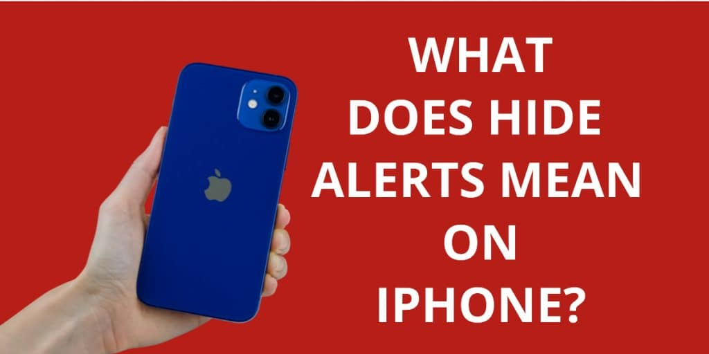 What Does Hide Alerts Mean On iPhone?